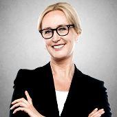 Closeup Portrait Of A Middle Aged Businesswoman