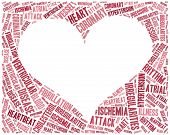 Word Cloud Heart Disease Related In Shape Of Heart Organ