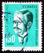 Postage Stamp Turkey 1964 Salih Zeki, Ottoman Mathematician