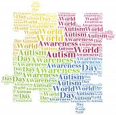 picture of aspergers  - Tag or word cloud Autism awareness related - JPG