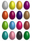 eggs multicoloured. Vector illustration