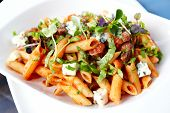 picture of champignons  - Tomato pasta with beef - JPG