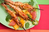 Whole Grilled Scampi With Citrus Salad