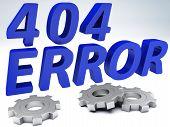 Error 404 concept