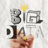 Business Hand Drawing Graphic Design Big Data Word As Concept