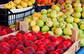 Fresh Organic Fruits At A Street Market