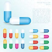 Colorful Pills Set