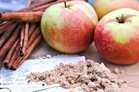 stock photo of recipe card  - Apples - JPG