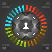 Stylish Infographics Vector Template. Circles Chart. Vector EPS10 Concept Illustration Design