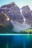 Mountains with turquoise lake
