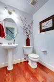 Bathroom Interior In Light Lavender Color