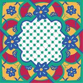 Floral Moroccan Inspired Tile