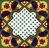 Moroccan Inspired Floral Tile
