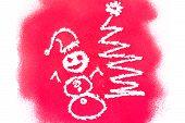 Christmas Greetings, Spray Painted
