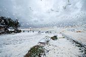 Spring Storm In Uruguay. Piriapolis Coastline