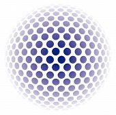 Resumo de fundo bola mosaico 3D