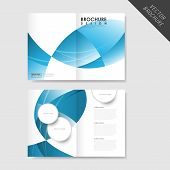 Modern Streamlined Half-fold Brochure Template