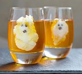 Ghost Jello Treats