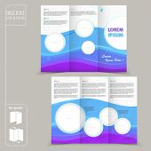 Modern Tri-fold Template For Business Advertising Brochure