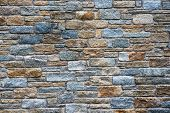 Architectural Background Of A Stone Wall