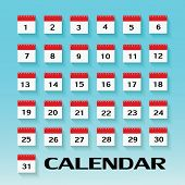 Calendar Icon. Vector Illustration