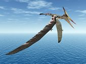 foto of pteranodon  - Computer generated 3D illustration with the Pterosaur Pteranodon - JPG