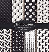 pic of black eyes  - Set of halloween backgrounds - JPG