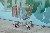 Shopping Cart By Grafitti Wall