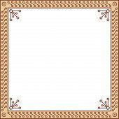 Decorative geometric frame
