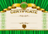 image of lace-curtain  - Elegant template of certificate - JPG