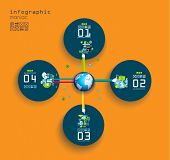 Original Style Infographics Templates to display your data with a lot of UI Flat style elements.