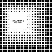 Abstract Halftone Square Background
