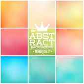Big Set Of Soft Colored Abstract Background 36 Vintage styled Summer background vector