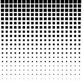 Black Abstract Halftone Square Dot Background
