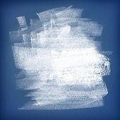 White paint on blue wall