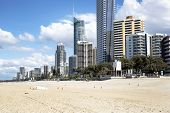 Gold Coast Surfers Paradise beach and Q1 Tower