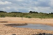 Sandbank On Embleton Beach Estuary