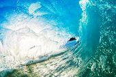 Crashing Blue Ocean Wave