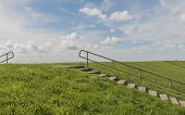 Dike And Stairs Texel