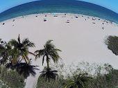 Sandy Tropical Beach Aerial View