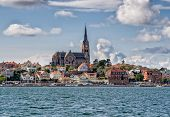 Lysekil Church Viewed From The Seaside, Sweden