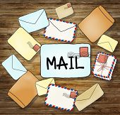 Illustrations of Mails and Communication Concepts