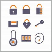 Various locks icons