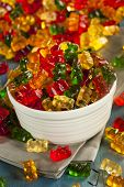 picture of gummy bear  - Colorful Fruity Gummy Bears Ready to Eat - JPG