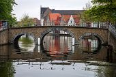Medieval bridge over canal