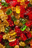 image of gummy bear  - Colorful Fruity Gummy Bears Ready to Eat - JPG
