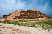stock photo of ziggurat  - Zikkurat Choqa Zanbil in desert of Iran