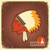 Native American Man Portrait