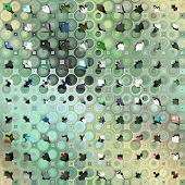 art abstract colorful geometric seamless pattern background in grey,green and black colors