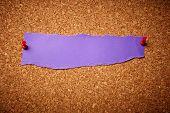 Violet Torn Paper